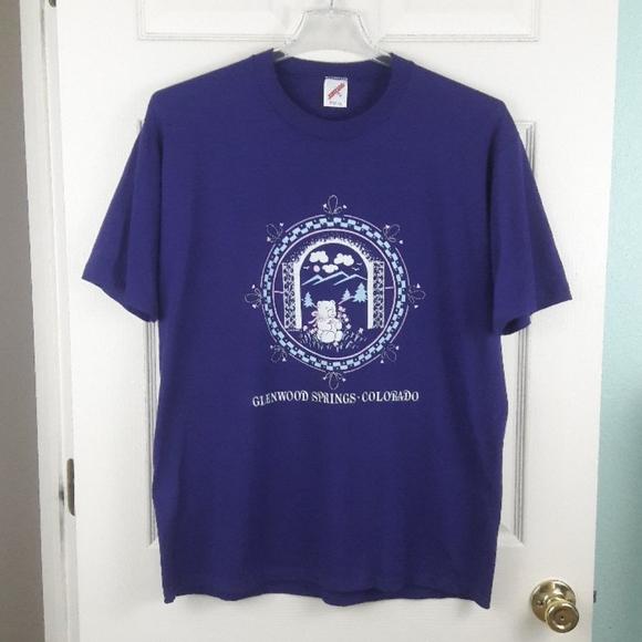 Vintage Tops - Vintage 80s Glenwood Springs Colorado T Shirt